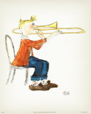 Trombone Prints by Rivka 