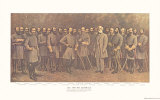 Robert E. Lee and His Generals Print by  Mathews