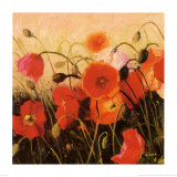 Poppy Party Posters by Shirley Novak