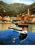 Harbor at Last Light Print by Ramon Pujol