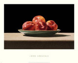 Plums on Celadon Print by John Arbuckle