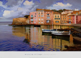 Evening Village Prints by Ramon Pujol