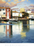 Harbor at Morning Light Prints by Ramon Pujol