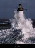 Faro batido por las olas Pósters por Guillaume Plisson