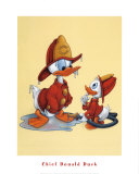 Chief Donald Duck Poster