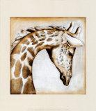 Giraffe der Serengeti Poster von Susan Hartenhoff
