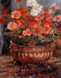 Géraniums Posters par Pierre-Auguste Renoir