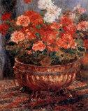 Flowerpot Posters af Pierre-Auguste Renoir