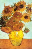 Doce girasoles Lminas por Vincent van Gogh