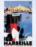 Marseille Print by Roger Broders