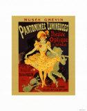 Pantomines Lumin Pósters por Jules Chéret
