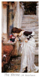 The Shrine Posters by John William Waterhouse