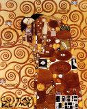 Die Erfüllung Poster von Gustav Klimt