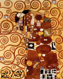 Fulfillment, Stoclet Frieze, c.1909 Affischer av Gustav Klimt