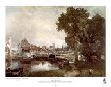 John Constable - Mill at Dedham Plakát