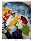 Peasant Life, 1925 Plakat av Marc Chagall