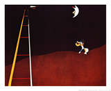 Dog Barking at the Moon Print by Joan Mir&#243;