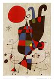 Due figure capovolte Stampe di Joan Miró