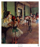 La clase de danza Pósters por Edgar Degas