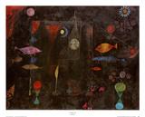 Pez mágico Lámina por Paul Klee