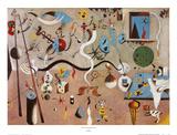 Il Carnevale di Arlecchino Lámina por Joan Miró