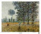 Fields in Spring Prints by Claude Monet