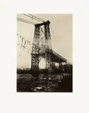 Construction of New York Tower of Williamsburg Bridge Poster