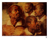 Four Negro Heads Posters by Peter Paul Rubens