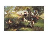 Quemando hojas Láminas por Henry Le Jeune