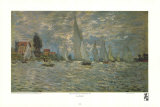 Boats, Regatta at Argenteuil Prints by Claude Monet