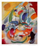 Improvisation No. 31, Sea Battle, c.1913 Taide tekijänä Wassily Kandinsky
