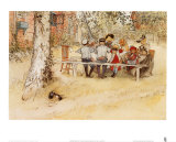 Carl Larsson - Breakfast under the Big Birch Obrazy