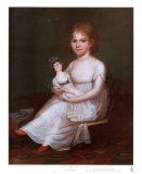 Girl Holding a Doll Prints by James Peale