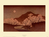 Cherry Blossoms Print by Hiroshige II 