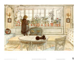Flowers on the Windowsill Prints by Carl Larsson