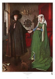 Portrait of Giovanni Arnolfini and his Wife, c.1434 Art by Jan van Eyck