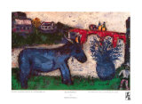 Blue Donkey Poster af Marc Chagall
