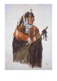 Mandeh-Pahchu, Mandan Man Prints by Karl Bodmer