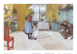 The Kitchen Prints by Carl Larsson
