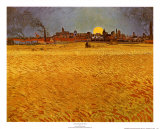 Cornfields Near Arles Poster by Vincent van Gogh