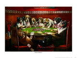 Poker Sympathy Print by Cassius Marcellus Coolidge