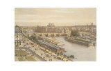 View of the Seine from the Louvre Posters by G.Ph. Benoist