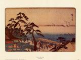 Kameya Tea House Affiches par Ando Hiroshige