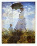 Madame Monet with Parasol and Her Son Art Print