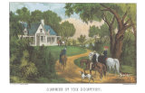Summer in the Country Prints by  Currier & Ives