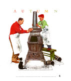 Coal Season's Coming Print by Norman Rockwell