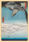 Eagle Flying over the Fukagama District Poster by Ando Hiroshige