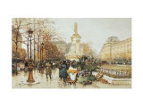 Flower Stall Prints by Eugene Galien LaLoue