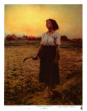 The Song of the Lark Plakat af Jules Breton