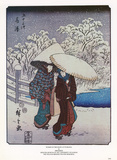 Women in the Snow at Fujisawa Posters by Ando Hiroshige